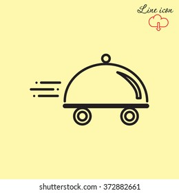 Line icon- food delivery
