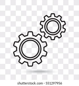 Line icon-  gears