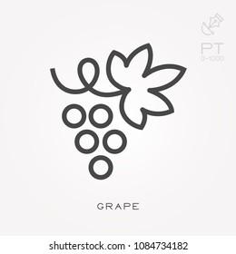Line icon grape