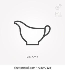 Line icon gravy