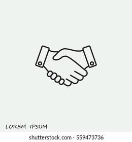 Line icon-   handshake