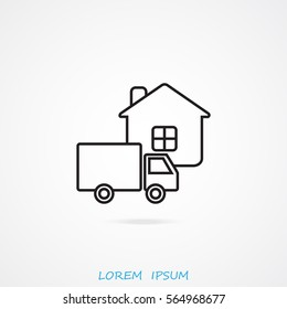 Line icon- home delivery