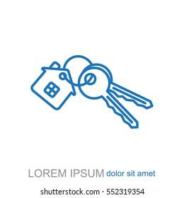 Line icon. house keys