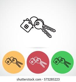 Line icon-  house keys