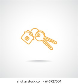Line icon-  house keys