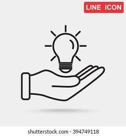 Line icon- idea