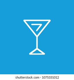 Line icon of martini glass. Glassware, alcohol, bar. Drinks concept. Can be used for topics like entertainment, leisure, nightlife