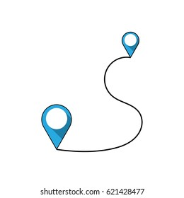 Line icon navigator. Journey illustration. Distance symbol isolated on white background