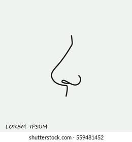 Line icon- nose