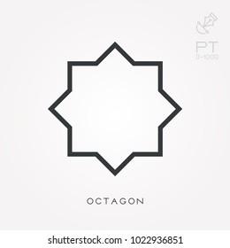 Line icon octagon
