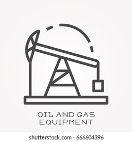 Line icon oil and gas equipment