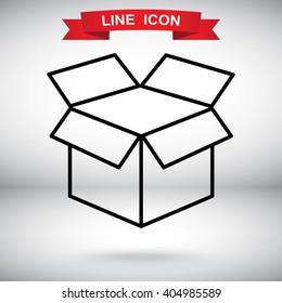 Line icon- open box
