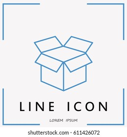 Line icon- open box