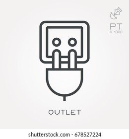 Line icon outlet