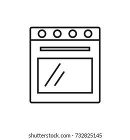 Line icon. Oven