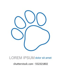 Line icon- paw