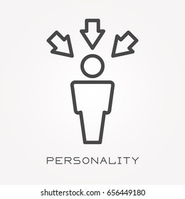 Line icon personality
