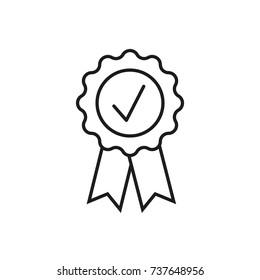Line icon. Quality badge