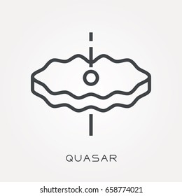 Line icon quasar