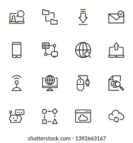 Line icon set. Collection of high quality black outline logo for web site design and mobile apps. Vector illustration on a white background