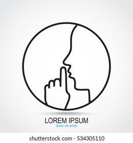 Line icon-  silence