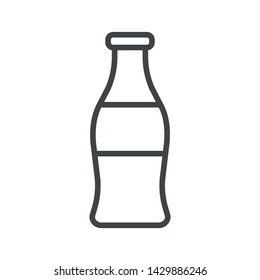 Line icon with soda. Simple vector illustration with ability to change.