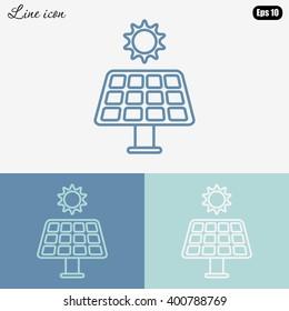 Line icon- solar panel