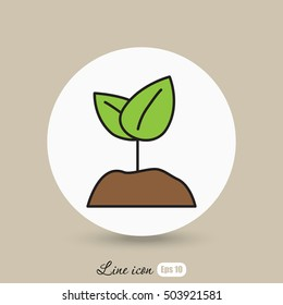 Line icon-  Sprout
