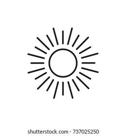 Line icon. Sun icon