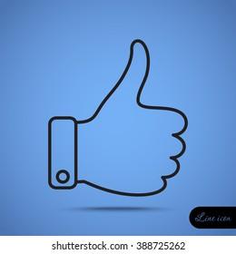Line icon- thumb up