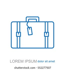 Line icon- travel  bag
