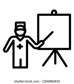 A line icon vector of medical practitioner