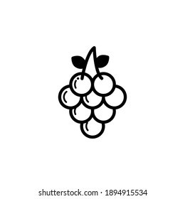 line icon vector. Outline fruit, line icon, vector illustration, isolated.  flat vector simple element illustration from editable fruit.