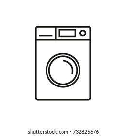 Line icon. Washing machine