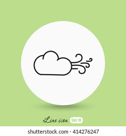 Line icon-  Wind