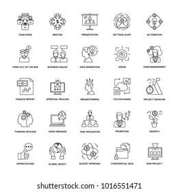 Line Icons Project Management