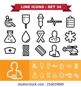 Line icons set 34.Illustration eps 10
