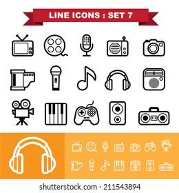 Line icons set 7 .Illustration eps 10