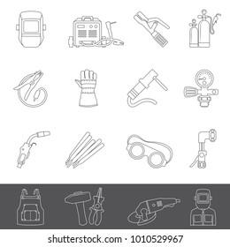Line Icons - Welding Equipment