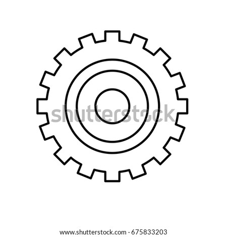 Line Industry Gear Process Engineering Stock Vector Royalty Free