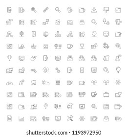 Line Internet, website and user interface icons - vector icon set