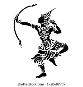 line Lao pattern art design vector