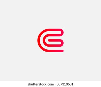 Line letter G logotype. Abstract moving airy logo icon design, ready symbol creative finger print vector sign.