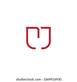 Line Letter Initial CJ / MC / MJ/ M Logo Design Template