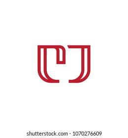 Line Letter Initial CJ / MC / MJ / M Logo Design Template