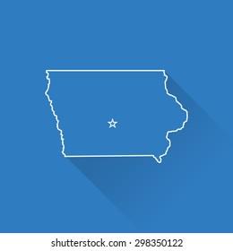Line Map of Iowa