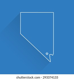 Line Map of Nevada