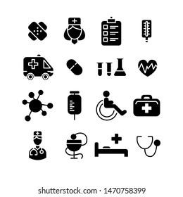 Line medical icons set, flat design symbols for website, business, infographic, mobile concepts and web apps