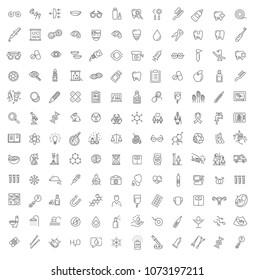 Line medicine consepts, Icons set