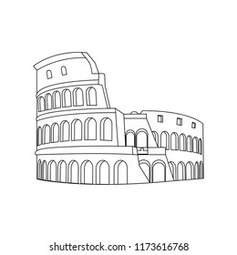Colosseum Rome Simple Icon Flat Style Stock Vector Royalty Free